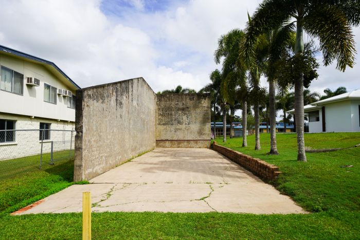 The traditional fronto, or Basque handball court in Trebonne, serves as a symbol of the district's strong Basque heritage. (Supplied: Hinchinbrook Shire Council)