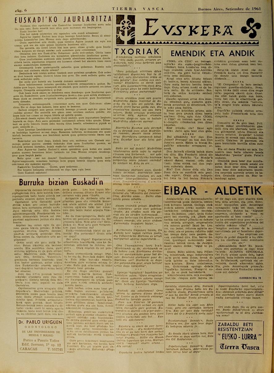 Eusko lurra 1961