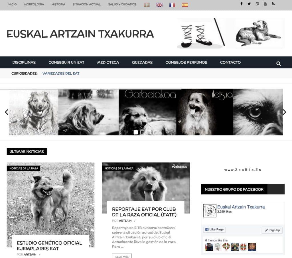 Web euskal artzain txakurra