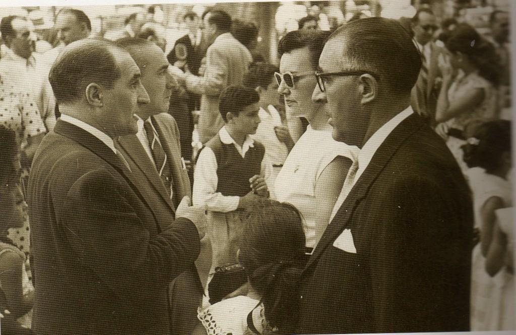 Karmele Urresti con el Lehendakari Aguirre